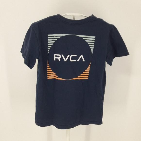 RVCA Boy's Small Navy Cotton T-shirt